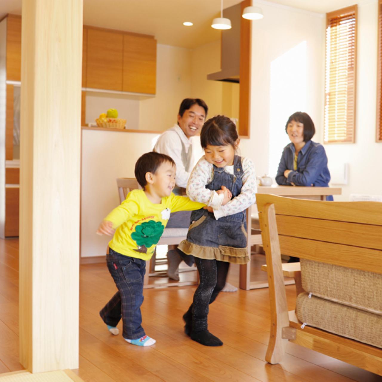 子どもがすくすく育つ家イメージ